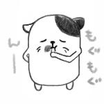 もしゃもしゃ酢コンブを食う猫