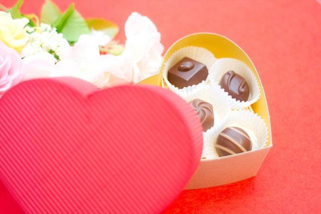 ハート型の箱に入ったチョコレート