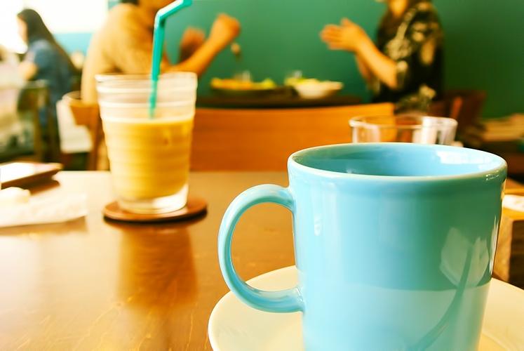 カフェにて一休み