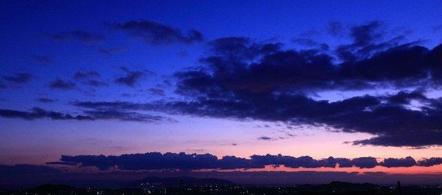 夕暮れの空
