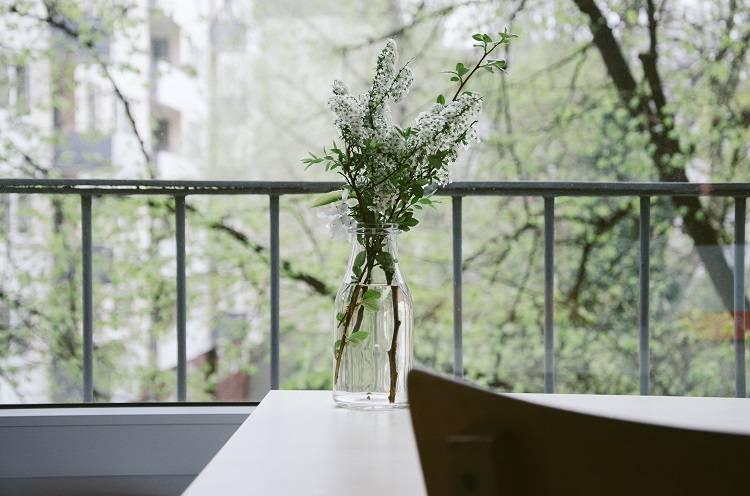 花瓶に挿した草木