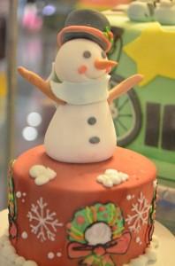 雪だるまのケーキ