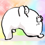 ブリッジして幸せを感じるクマ