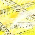 流れる音楽と鍵盤