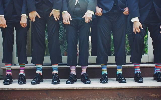 みんなお揃い!マルチボーダーの靴下