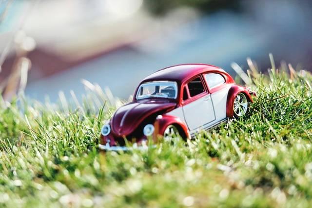 赤い車(ワーゲン)