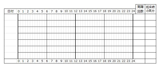 睡眠日誌・シート2