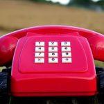 赤い電話の車