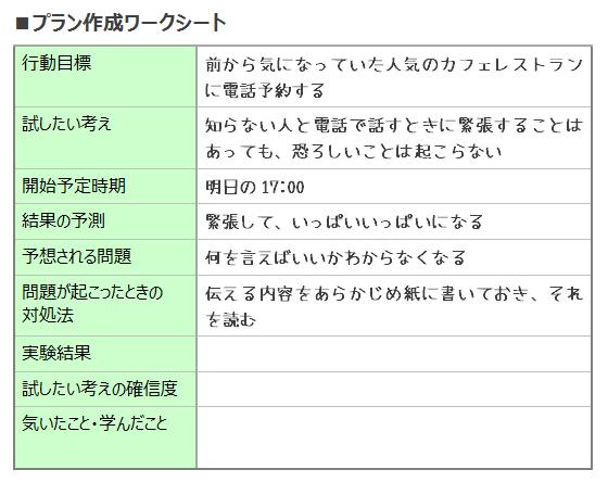 ワークシート(プラン作成)