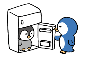 冷蔵庫からこんにちはペンギン