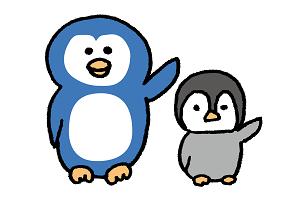 提案するペンギン2匹