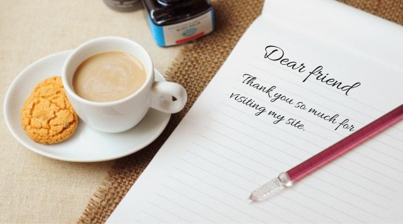 便箋とガラスペンとカフェオレ