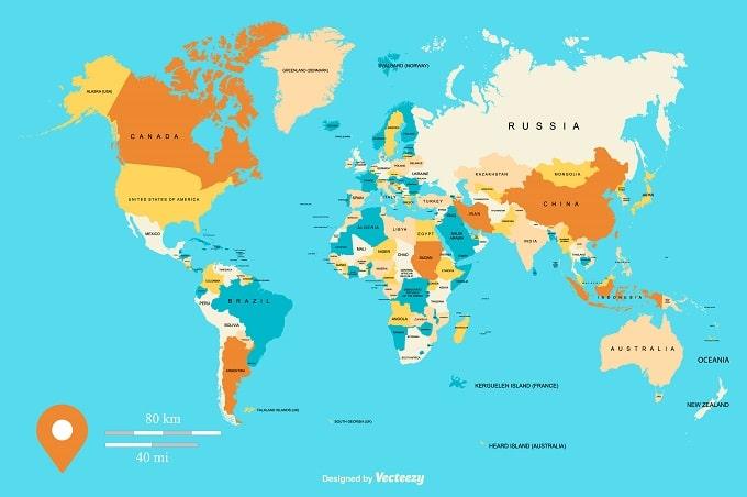 地球は丸くて、世界地図の中心はロンドンで、私は極東の島国で暮らしている